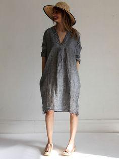 gallery linen dress