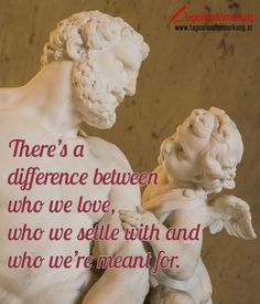Theres a difference between who we love who we settle with and who were meant for. #QuoteOfTheDay #ZitatDesTages #TagesRandBemerkung #TRB #Zitate #Quotes