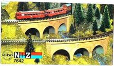 Buildings Tunnels and Bridges 120273: Kibri N + Z 7642 2 Curved Stone Arch Bridges 1 220 Scale Nib -> BUY IT NOW ONLY: $36.89 on eBay!