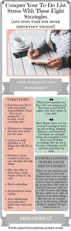 How do you conquer to-do list stress? | Time Management | Organization | Christian Motherhood | Homemaking