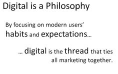 Digital is a philosophy - insights from digital can make all advertising better