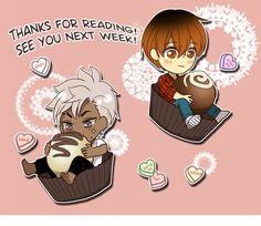 Aren't Shon and Ian such ~sweeties~? Happy Valentine's Day from 允儿 and LINE Webtoon! I Love Yoo Webtoon, Chibi, Loki Whispers, Webtoon App, Fanart, Webtoon Comics, Cute Comics, Kawaii Art, Manga Games