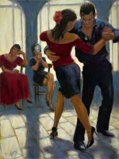 Artworks by Mark Keller работ) Shall We Dance, Lets Dance, Mark Keller, Tango Art, Tango Dancers, Dance Paintings, Latin Dance Dresses, Dance Skirts, Danse Macabre