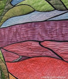 detail, Windy Point by Krista Zeghers. Quilt Arizona! 2016. Photo by Quilt Inspiration.