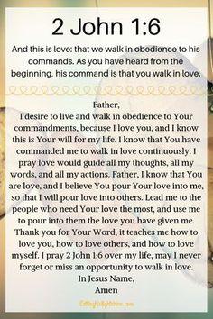 2 John – Letting His Light Shine Prayer Scriptures, Bible Prayers, Faith Prayer, God Prayer, Prayer Quotes, Bible Verses Quotes, Spiritual Quotes, Faith Quotes, Marriage Scripture