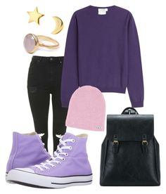 """purple"" by gecegoker on Polyvore featuring moda, Topshop, Jil Sander, Converse, Bohemia, Mminimal, Winter, outfit ve purple"