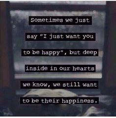 I want to be your happiness