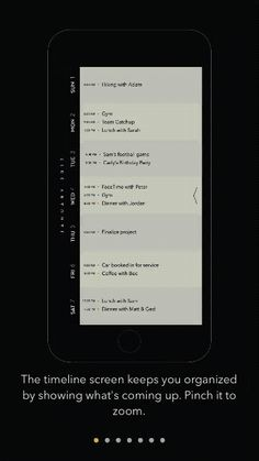 Moleskine's Timepage includes App-Store-style screenshots to familiarize users with the app.