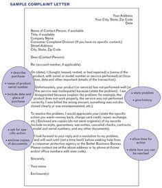 Letter of COMPLAINT EDIT?