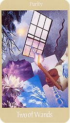 Two of Wands from the Voyager Tarot at TarotAdvice