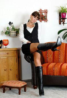 German brunette milf