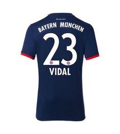 Billiga Bayern Munchen Arturo Vidal 23 Bortatröja 17-18 Kortärmad Thomas Muller, Munich, Messi, Ronaldo, Sports, Tops, Fashion, Bavaria, Hs Sports