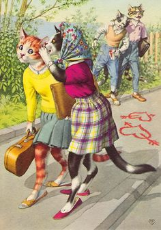 Alfred Mainzer - Dressed cats Crazy Cat Lady, Crazy Cats, I Love Cats, Cool Cats, Cat Cards, Here Kitty Kitty, Vintage Cat, Dog Art, Neko
