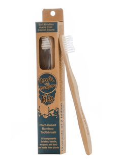 Brush with Bamboo Kids Bamboo Toothbrush Sold at Simply Natural Baby Store™ :: This product and it's packaging is plant-based.