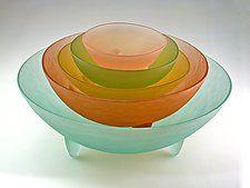 Spike the Five Set by Hudson Beach Glass (Art Glass Bowls)