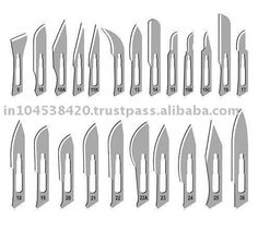 Operating Room: Surgical Blades. Most used #s 10, 11, 15 and occasionally 12