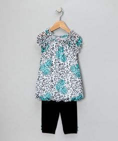 Love this Turquoise Bubble Tunic & Leggings - Toddler on #zulily! #zulilyfinds