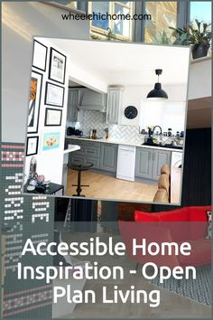 On my blog post I'm looking at accessible, adapted and wheelchair friendly home inspiration, you can find it anywhere, if you see something you like, then see how you can adapt it for your needs? Take a look at my blog post for some inspiration! Bold Wallpaper, Brick Wallpaper, Kitchen Extensions, House Extensions, Industrial Kitchens, Folding Doors, Exposed Brick, Open Plan Living, Kitchen Living