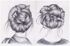 hair sketch - Google Search