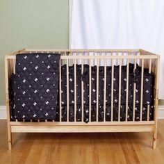 Skull Star Baby Bedding Set - Crib Skirt and Fitted Sheet