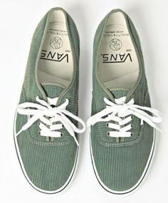 vans shoes. Corduroy... Intesting shade of olive