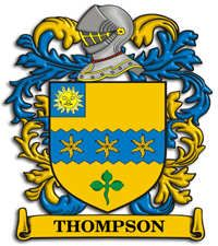 Thompson family crest Ireland