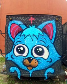 Graffiti Cat - Renato Ahoop  Graffiti, street art, cat, spray, trailer