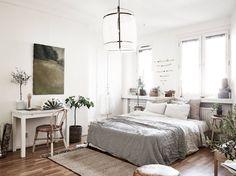 Tiny white studio apartment