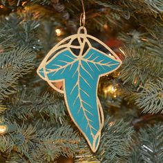 {GIFT} | Elven Leaf Christmas Ornament Set of 3 - Lord of the Rings