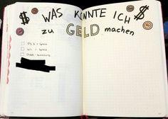 """""""Was könnte ich zu Geld machen"""" für bullet journal oder tagebuch"""