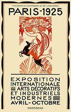 Art Deco The 1925 Paris Exhibition - repro vintage poster
