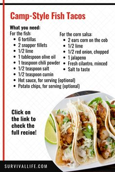 Tired of eating the same food at the campground over and over again? Try this recipe! #campfirerecipes #fishrecipes #campfire #camping #survival #preparedness #survivallife