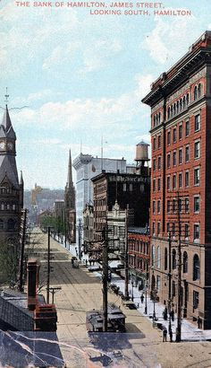 Bank of Hamilton, James St. Santa Lucia, Bolivia, Ottawa, Old Pictures, Old Photos, Ecuador, Jamaica, Hamilton Pictures, Hamilton Ontario Canada