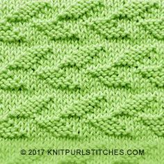 Feb 2017, I'm happy to share a new stitch called Alternating Welted Leaf. Just KNIT AND PURL. It's a very simple stitch to knit