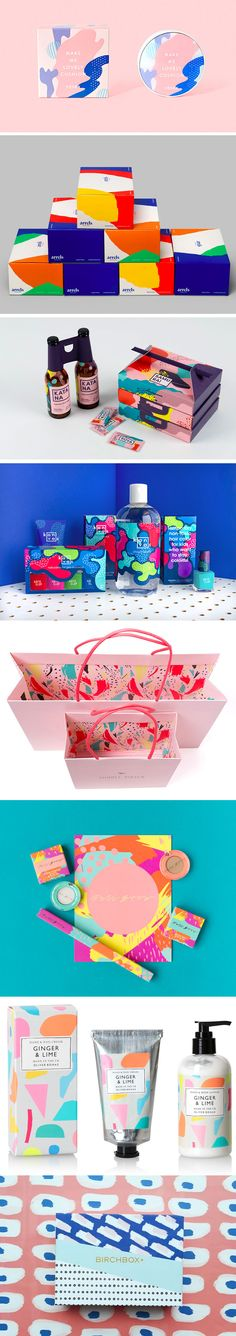Theme: Splash of colors packaging