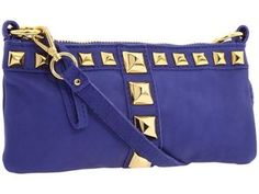 linea pelle: studded clutch in cobalt Cute Handbags, Purses And Handbags, Studded Clutch, Purse Styles, Cute Purses, Cute Bags, Girls Best Friend, Shoulder Bag, Clutches