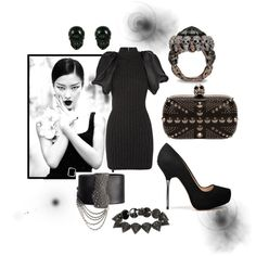 www.lunadizucchero.wordpress.com a fashion look from October 2011 featuring Lanvin dresses, Zara pumps and Alexander McQueen clutches. Browse and shop related looks.