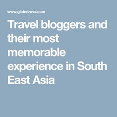 Travel bloggers and
