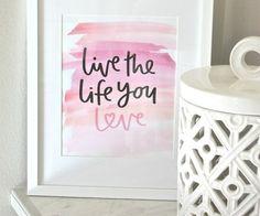 Free printable love print