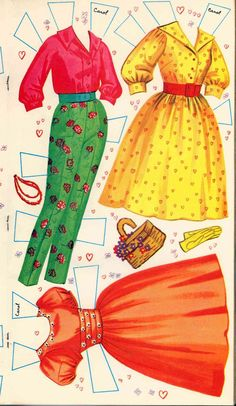 Doris Day paper doll outfits                                                                                                                                                                                 More