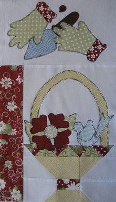 flower basket quilt block | Le' Gardener and Passion Flower Basket