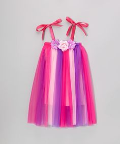 Take a look at this Pink Rosette Flapper Dress - Toddler & Girls by My Princess Academy on #zulily today!