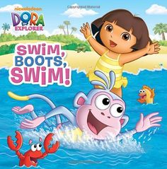 (Dora the Explorer) Dora wants to spend a day at the ocean, but she is surprised to learn that Boots doesn't know how to swim. Boots gets his first swimming lesson from Mariana the Mermaid. Find this under E BEI. Little Boy And Girl, Little Boys, Books To Read Online, New Books, Dora The Explorer Pictures, Dora Mermaid, Dora Toys, Dora Diego, Book Bins