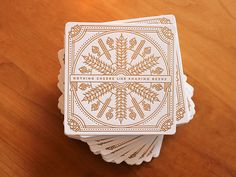 Letterpress Beer Coaster