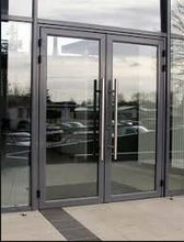 Store front glass doors commercial modern shop storefront interior swing mall sliding insulated g Glass Door, Exterior Doors With Glass, Modern Shop, Commercial Door Handles, Doors Interior, Entry Doors, Glass Entrance Doors, Commercial Glass Doors, Aluminium Doors