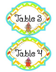 Classroom Theme - Sock Monkey (Name Tags, Clip Art, Months, etc...) Chevron from Mrs. Clauses Creative Classroom on TeachersNotebook.com (19 pages)  - Classroom Theme - Sock Monkey (Name Tags, Clip Art, Months, etc...) Chevron