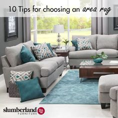 10 Tips for Choosing an Area Rug Living Room Turquoise, Teal Living Rooms, Living Room Color Schemes, Beautiful Living Rooms, Living Room Colors, Living Room Decor Set, Condo Living Room, Apartment Living, Living Room Designs