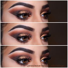 @tartecosmetics Tartiest Pro Palette (I used all shades on the first top row of this palette) & shape tape concealer @anastasiabeverlyhills DipBrow in Ebony @ardellbeauty Glamour Lashes ——————————————— #warmth #warmtones #warmingup #tartecosmetics #tarte #penny #semicutcrease #cutcrease #eyeshadow #makeuptutorial #wakeupandmakeup