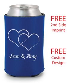 DEFINITELY doing the personalized wedding beer koozies as our favors. SO fitting for us! Fun and different!