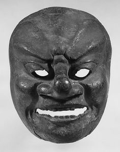 Bugaku mask Period: Heian period Date: century Culture: Japan Medium: Wood Dimensions: H. Japanese Noh Mask, Heian Period, Art Premier, Scary Faces, Beautiful Mask, Masks Art, 12th Century, Tribal Art, Mask Design